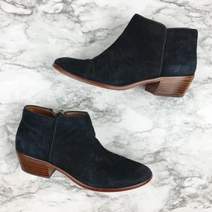 Sam Edelman Petty ankle boot black suede leather